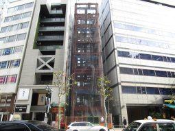 弊社設計、渋谷の新築テナントビル、鉄骨建方を行っております